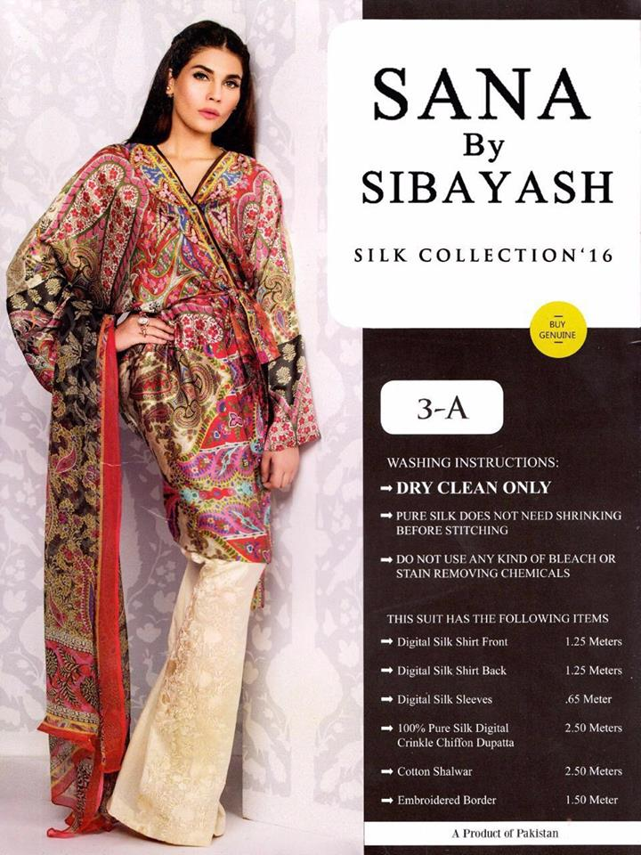 Silk Collection 2016 Sana by Sibayash
